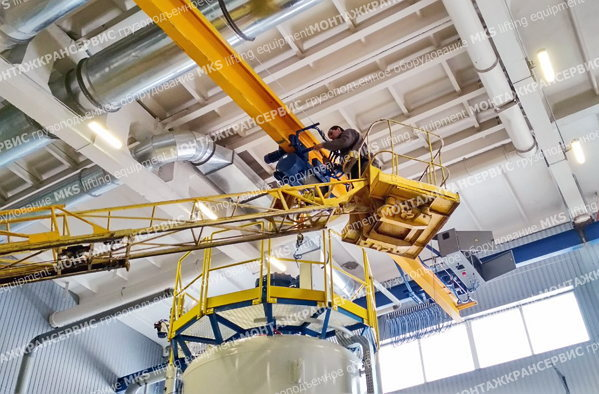 Repair of overhead cranes and overhead-travelling cranes